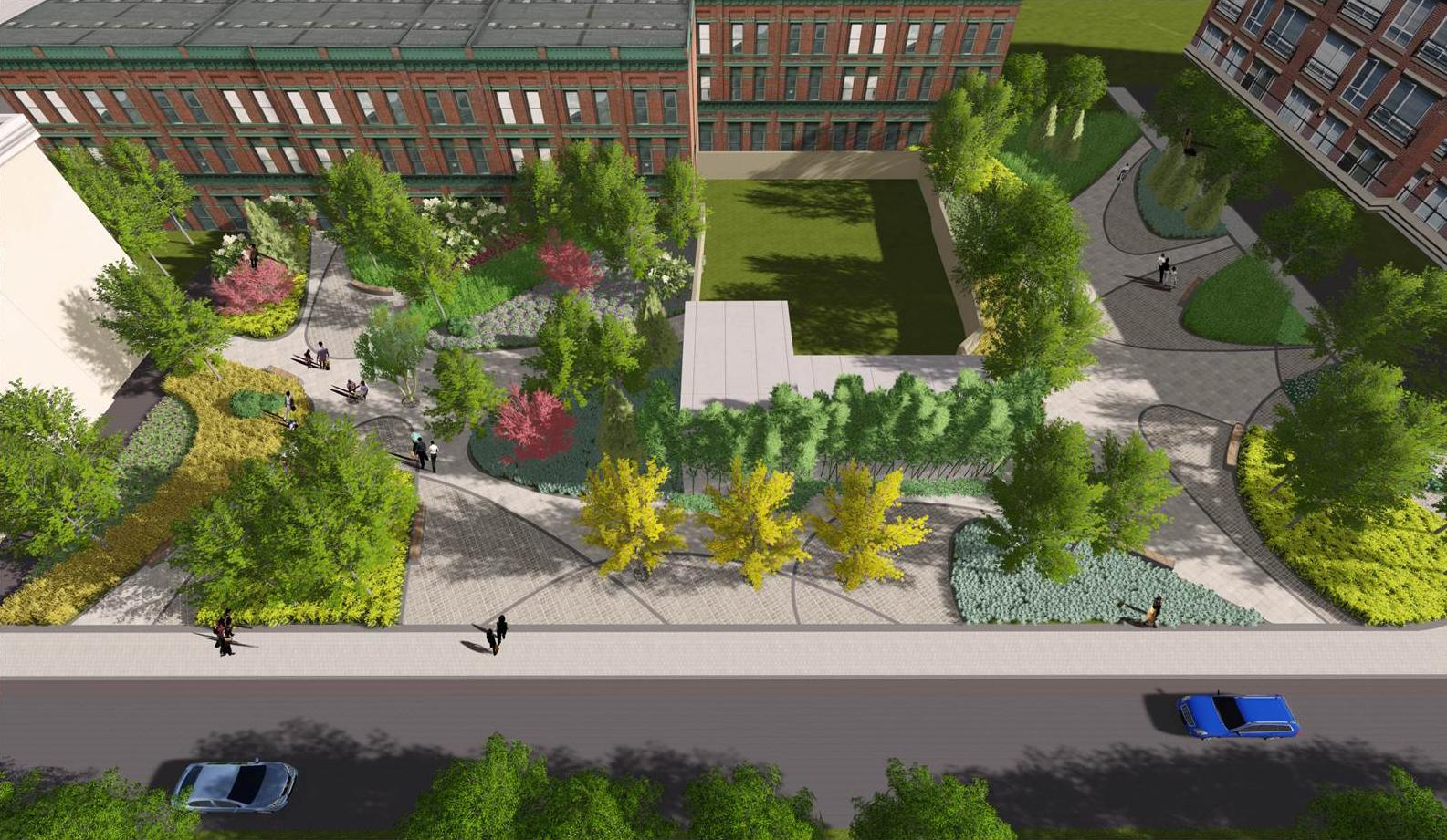 校园生态建筑景观_满足教学楼,宿舍楼,运动场地等功能建筑的交通联系.